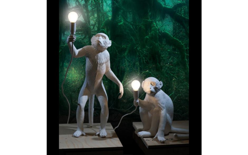 Lampada in resina Monkey Lamp in piedi