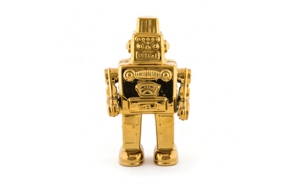 """Seletti - MY ROBOT IN PORCELLANA """"LIMITED GOLD EDITION"""""""