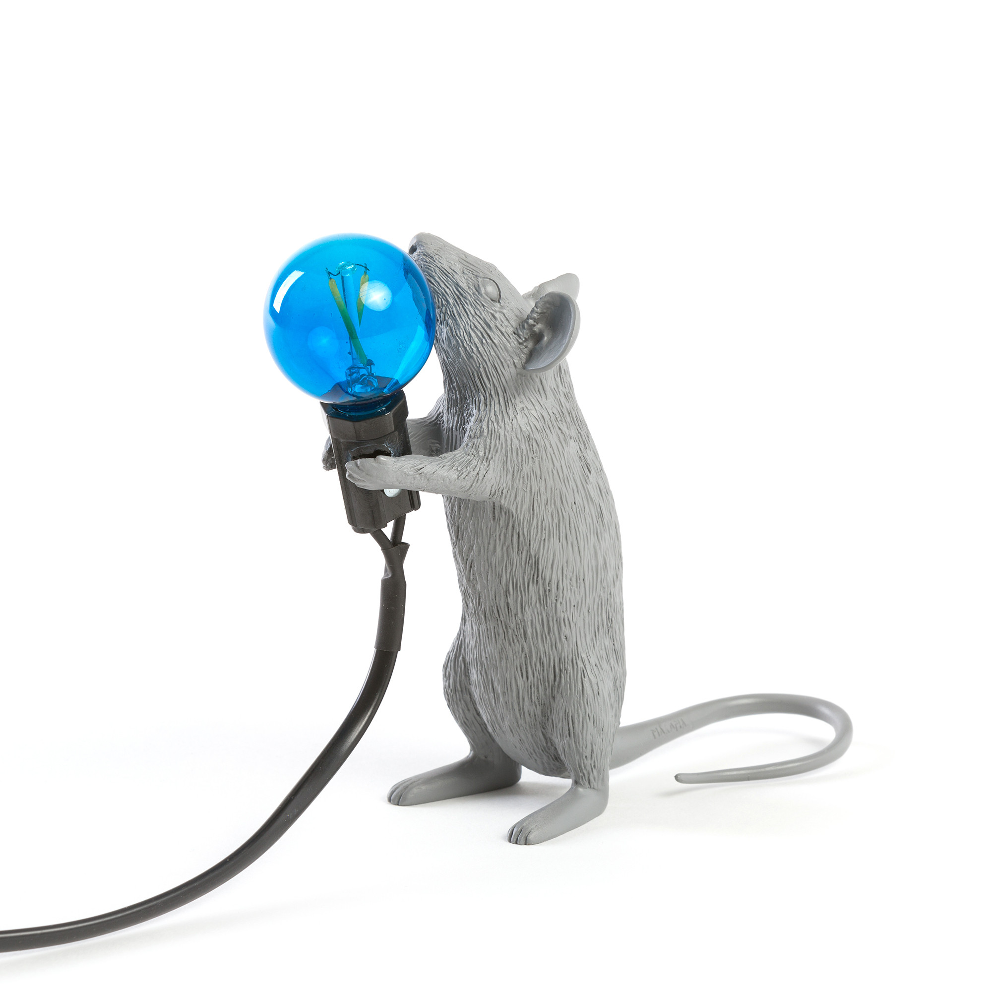 Seletti - MOUSE LAMP GREY STEP