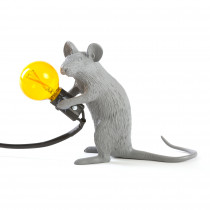 Seletti - MOUSE LAMP GREY MAC