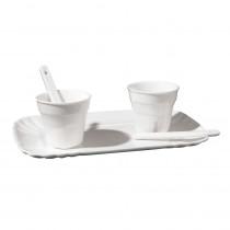 """Set 2 bicchierini da caffè con palettine e vassoio - """"Estetico quotidiano"""""""