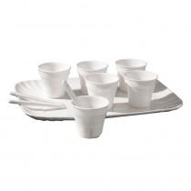 """""""Estetico Quotidiano"""" - Set di 6 bicchierini da caffè con palettine e vassoio - Seletti"""