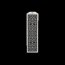 Vaso Alto Rettangolare Labirinto Nero