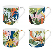 Set 4 Tazze Tropical Vibes
