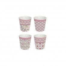 Set 4 bicchierini caffè Monsoon pink