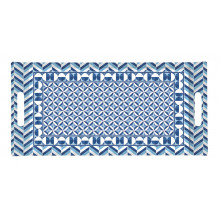 Vassoio con Manici Geometric Blue