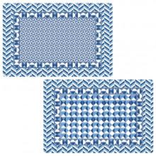 Tovaglietta fronte/retro Geometric Blue