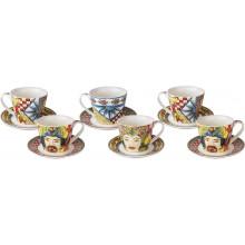 Set 6 Tazzine Caffè Rosso Sicily