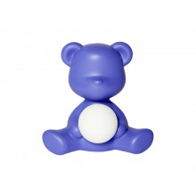 Qeeboo - TEDDY GIRL LAMP BLU