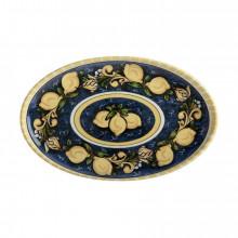 Ceramica Salerno Vassoio Ovale Limoni