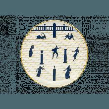 Richard Ginori - PIATTO GIO PONTI PASSEGGIATA ARCHEOLOGICA BIANCO