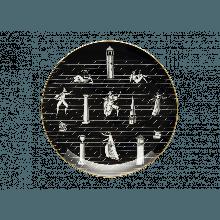 Richard Ginori - PIATTO GIO PONTI PASSEGGIATA ARCHEOLOGICA NERO