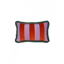 Cuscino velluto righe Rosso