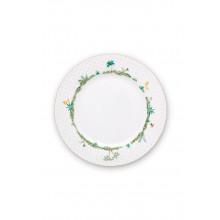 jolie plate dots gold 26.5 cm
