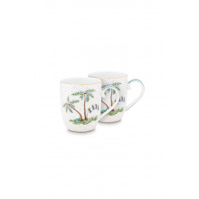 jolie set/2 mugs small dots gold