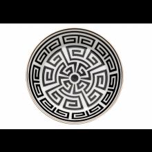 Piatto Tè Labirinto Nero