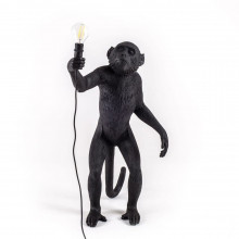 Seletti - LAMPADA IN RESINA MONKEY LAMP STANDING OUTDOOR BLACK