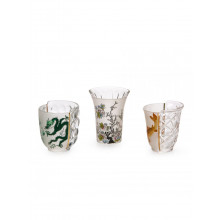 Set 3 Bicchieri in Vetro Hybrid-Aglaura