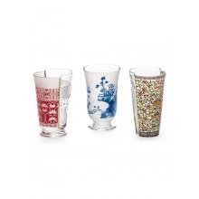 Set 3 Bicchieri in Vetro Hybrid-Clarice