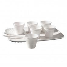 Estetico Quotidiano - Set di 6 bicchierini da caffè con palettine e vassoio