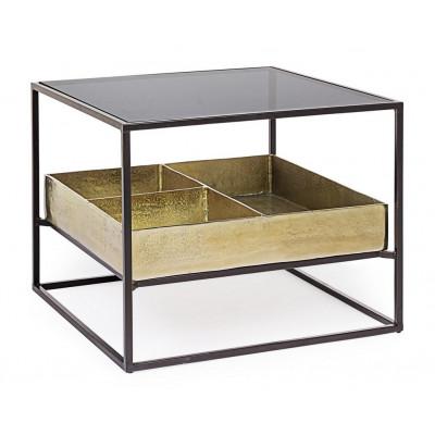 Tavolino Mavila con Contenitore in Metallo